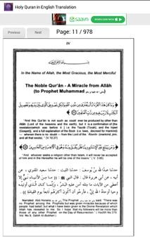 Holy Quran in English apk screenshot