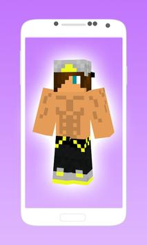 Hot boy skins for minecraft pe poster