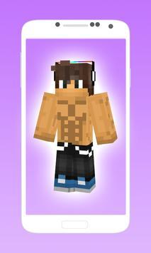 Hot boy skins for minecraft pe apk screenshot