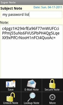 Super Note apk screenshot
