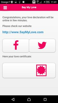 Say My Love - Love declaration apk screenshot