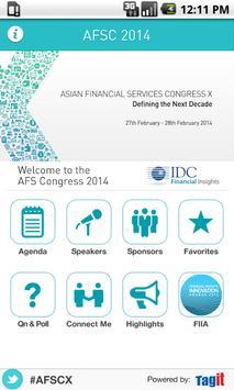 AFS Congress 2014 apk screenshot