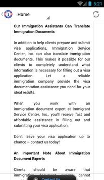 Immigration Document Service apk screenshot