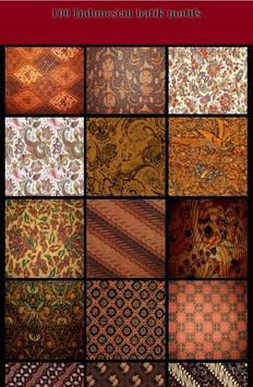 100 Indonesian Batik Motifs poster