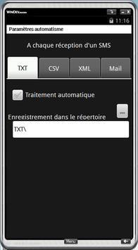 SMSTOXML apk screenshot
