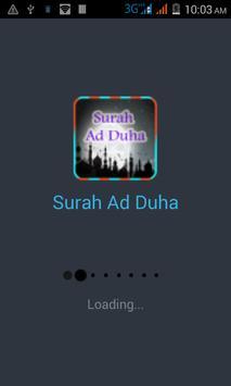 Surah Al Zuha Quran Pak poster