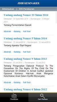 JDIH Kemnaker apk screenshot