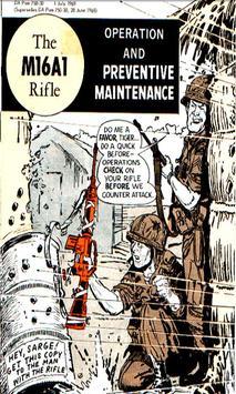 M16A1 Rifle CARTOON Manual poster