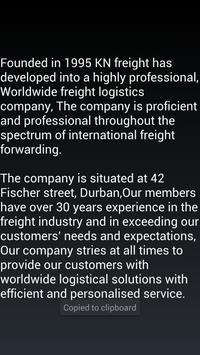KN Freight apk screenshot