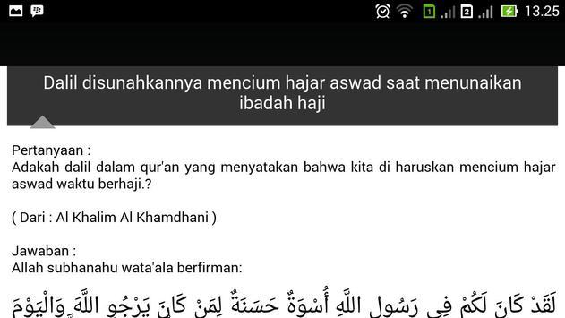 Bahtsul Masalah Fiqih Haji apk screenshot