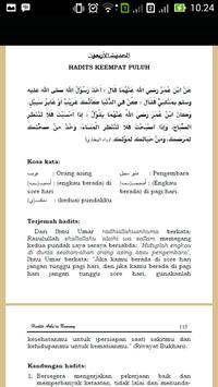 Terjemah Hadits Arbain Nawawi apk screenshot