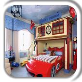 Kids Bedroom Decoration Design icon