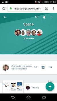 Guía Spaces: Comparte en grupo poster