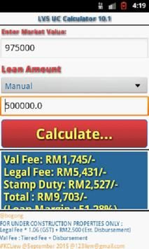 LKC LVS UC Calculator 10.1 apk screenshot