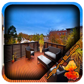 Modern Wood Balcony Design icon