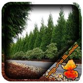 Cedar Tree Fence Design icon