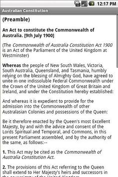 Australian Constitution apk screenshot