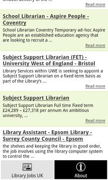 Library Jobs UK apk screenshot
