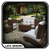 Modern Garden Table and Chairs icon