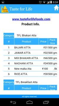 Taste for Life Customer apk screenshot