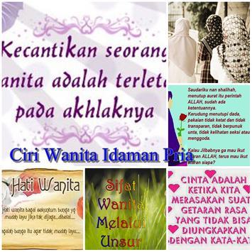 Panduan Ciri Wanita Idaman poster