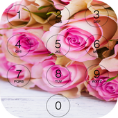 Pink Rose Love lock screen icon