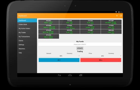 BTC-e client apk screenshot