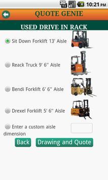 Warehouse Rack Quote Genie apk screenshot