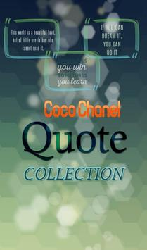 Coco Chanel Quotes Collection poster