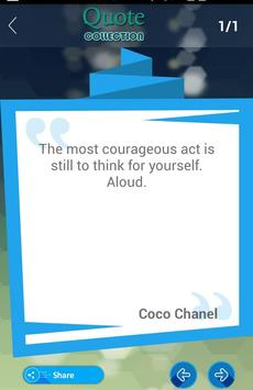 Coco Chanel Quotes Collection apk screenshot