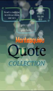 Charles de Montesquieu Quote poster