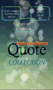 Ambrose Bierce Quotes poster