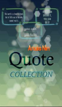 Anais Nin Quotes Collection poster