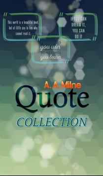 A. A. Milne Quotes Collection poster