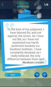 Abraham Lincoln Quote apk screenshot