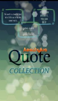 Aeschylus Quotes Collection poster