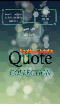 Agatha Christie  Quotes poster