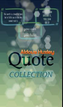 Aldous Huxley Quotes poster