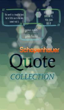 Arthur Schopenhauer Quote poster