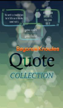 Beyonce Knowles Quotes poster