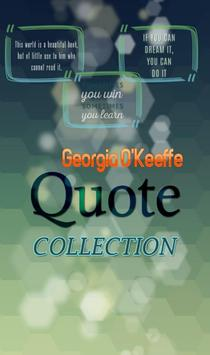 Georgia O'Keeffe Quotes poster