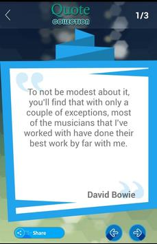 David Bowie Quote apk screenshot