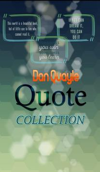 Dan Quayle Quotes Collection poster