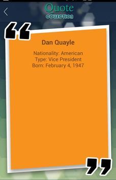 Dan Quayle Quotes Collection apk screenshot