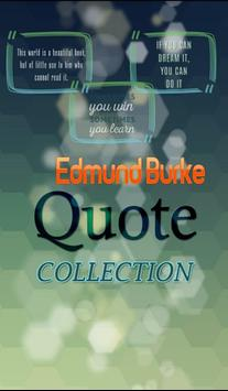Edmund Burke Quotes Collection poster