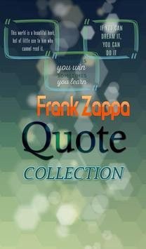 Frank Zappa Quotes Collection poster