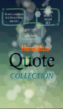 Heraclitus Quotes Collection poster