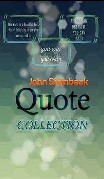 John Steinbeck Quotes poster