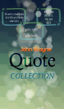 John Wayne Quotes Collection poster