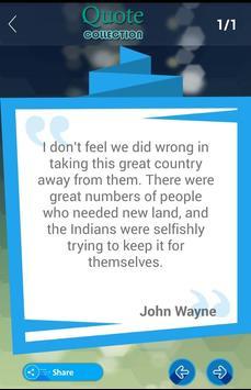 John Wayne Quotes Collection apk screenshot